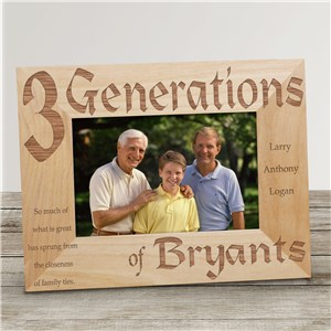 Personalized Generations Picture Frame | Personalized Picture Frames