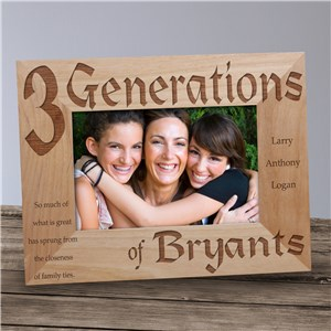 Generations Engraved Frame | Mother's Day Gifts For Grandma