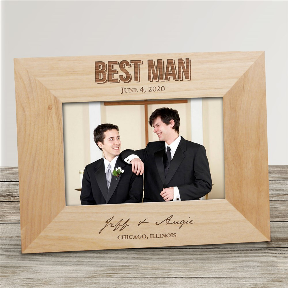 Engraved Bridal Party Wood Picture Frame | Personalized Picture Frames