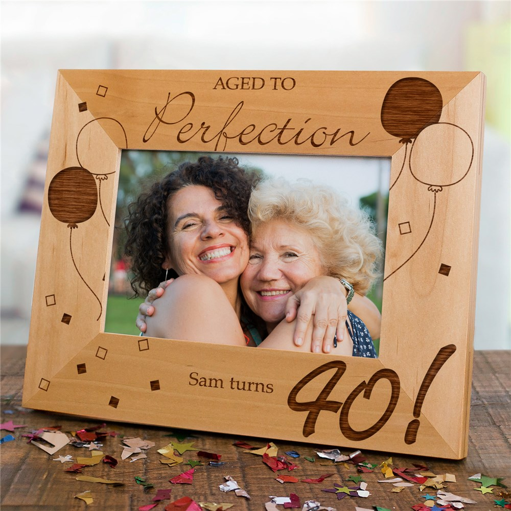Personalized Birthday Picture Frame | Personalized Wood Picture Frames