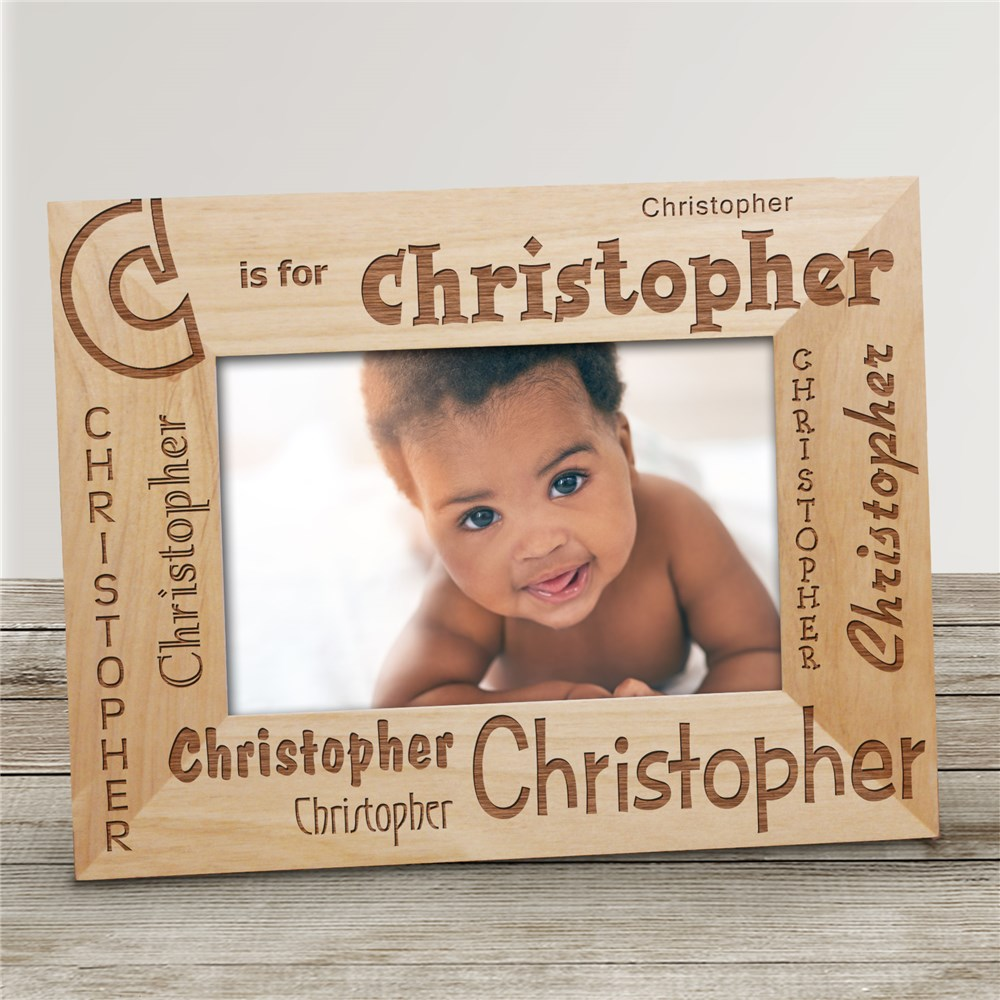 Personalized Name Frame - Initial Is For | Personalized Baby Picture Frames