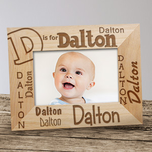 Personalized Name Frame - A is for... Design