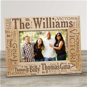 Family Pride Wood Picture Frame | Personalized Wood Picture Frames