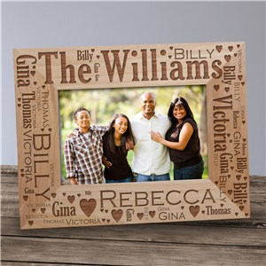 Family Pride Word-Art Wood Picture Frame 982011