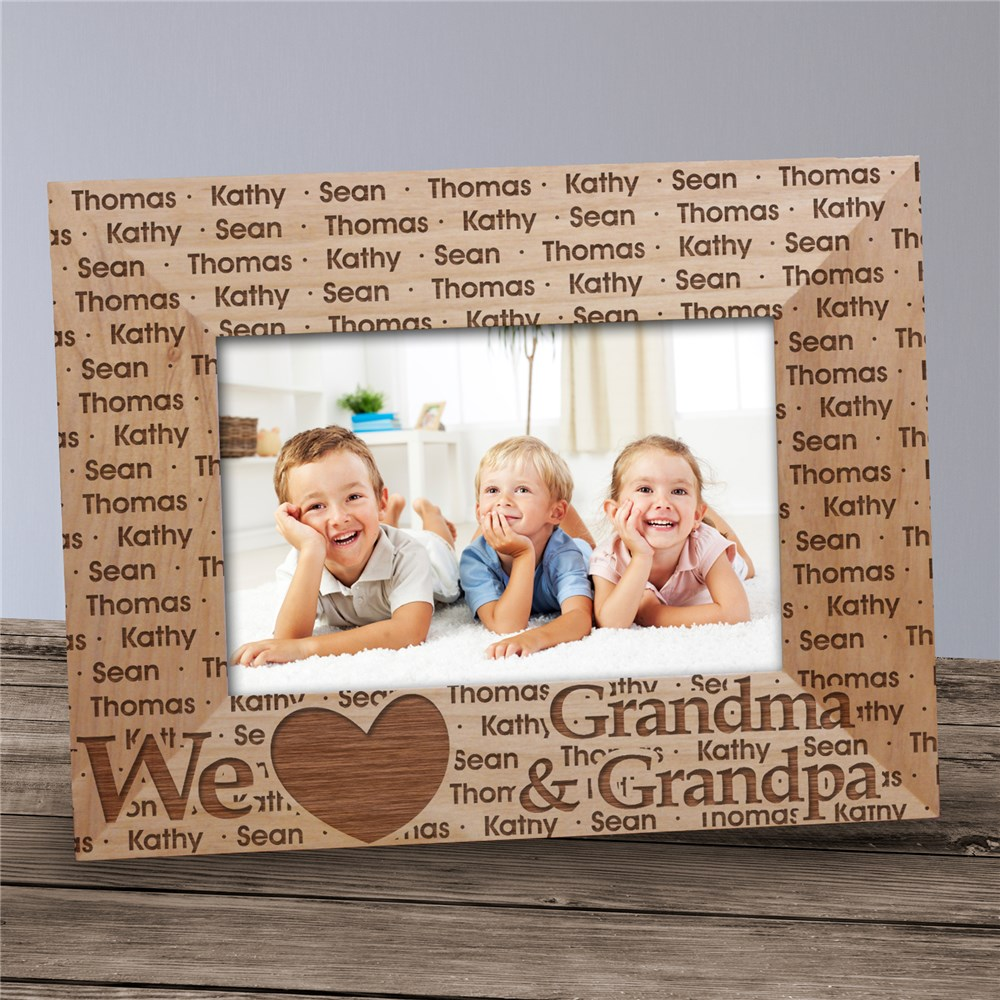 We Love... Personalized Wooden Picture Frame | Grandma Gifts