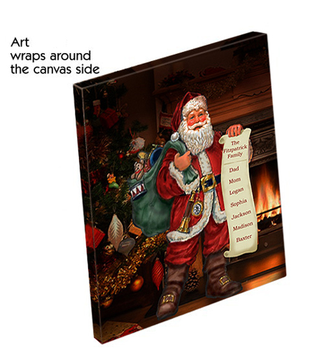 Classic Santa Personalized Canvas | Personalized Christmas Decorations
