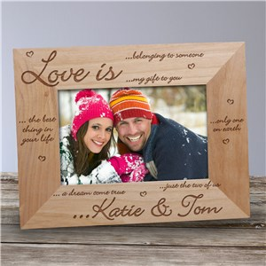 Love is... Wood Picture Frame | Personalized Wood Picture Frames
