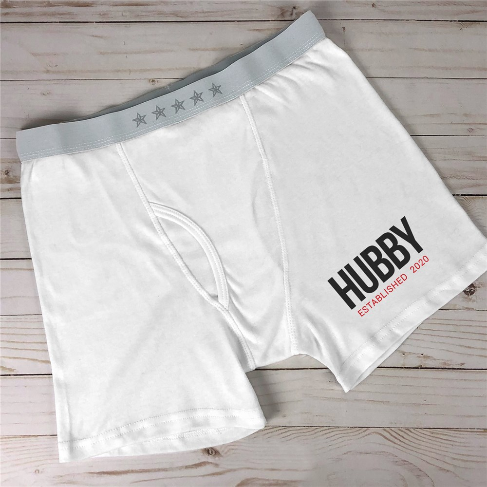Personalized Hubby Established Men's Boxer Briefs