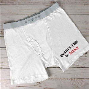 Personalized Inspected By Men's Boxer Briefs 992114X