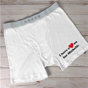 Personalized I Have A Heart On Men's Boxer Briefs 992117X