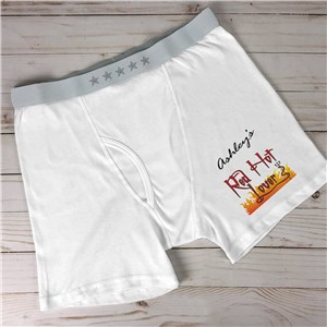 Personalized Red Hot Lover Men's Boxer Briefs 993197X