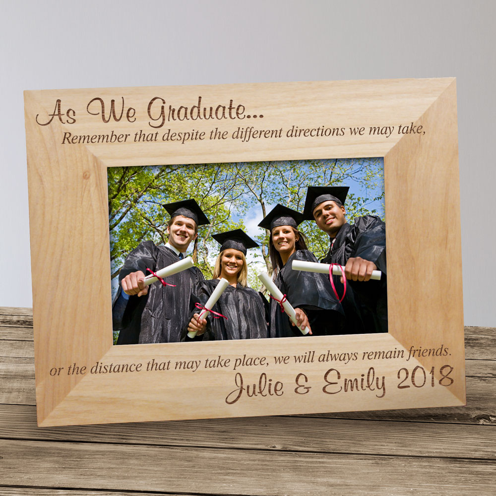 Engraved Grad Friends Picture Frame | Personalized Graduation Picture Frames