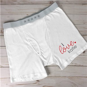 Personalized I Love Boxer Briefs 998211X