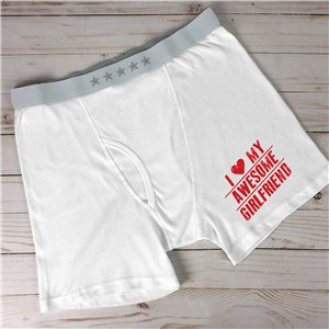 Personalized I Love My Awesome Men's Boxer Briefs 998248X