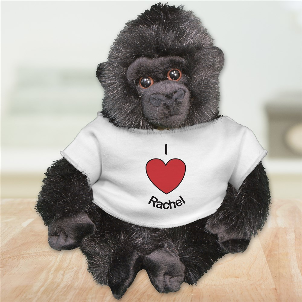 Personalized I Love You Gorilla | Valentine Day Teddy Bears