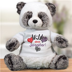 Personalized Wild About Panda Bear | Valentine Day Teddy Bears