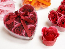 Heart Rose Soap Petals | Valentine's Day Gift for Her