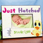 Personalized Easter Picture Frame- Just Hatched