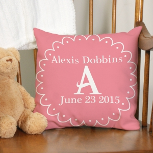Personalized Baby Throw Pillow