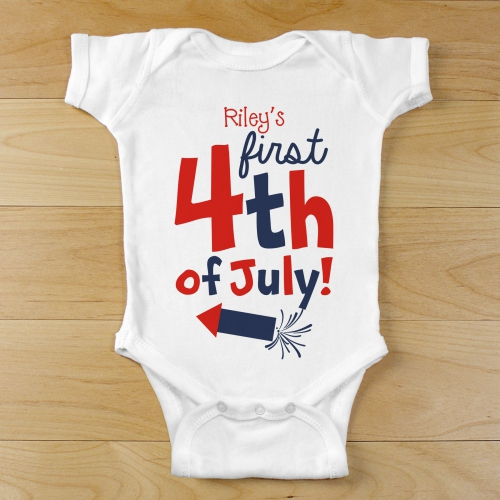 First Fourth of July Infant Bodysuit | Customized Baby Gifts