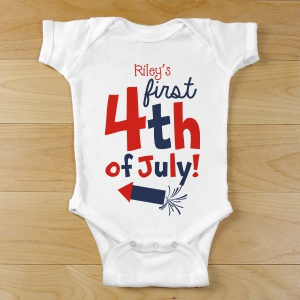 First Fourth of July Infant Creeper