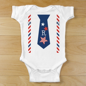 Personalized Patriotic Infant Creeper