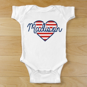 Patriotic Heart Infant Creeper