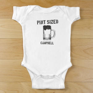 Personalized Pint Sized Infant Onesie | Personalized Baby Gift