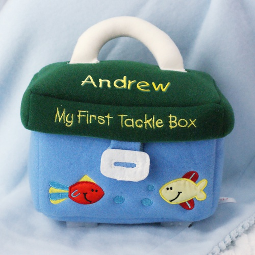 Embroidered My First Tackle Box | Personalized Baby Gifts