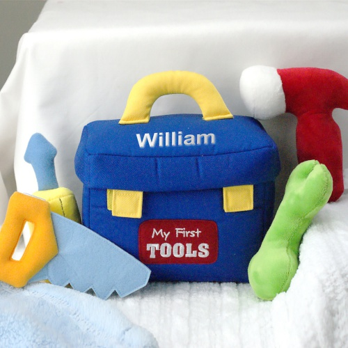 Embroidered My First Tools Playset | Personalized Baby Gifts