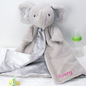 Embroidered Bubbles Elephant Huggybuddy | Unique Baby Shower Gifts