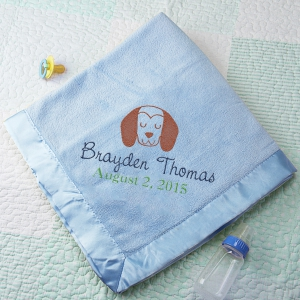Embroidered Fleece Baby Blanket