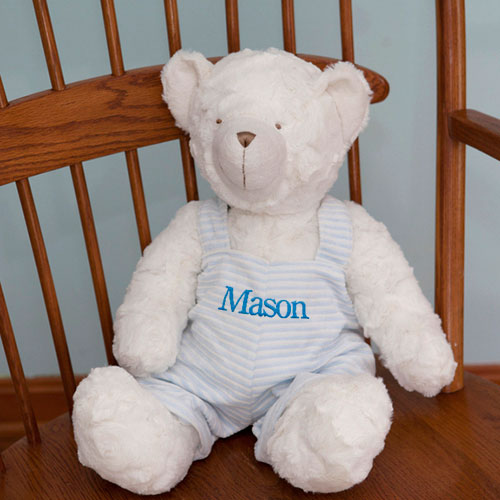 Embroidered  Blue Striped Jumper Teddy Bear E9958209