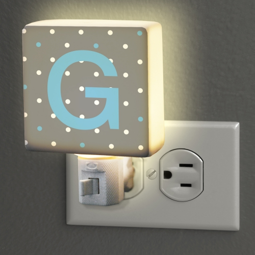 Personalized Polka Dot Initial Night Light | Personalized Baby Gifts