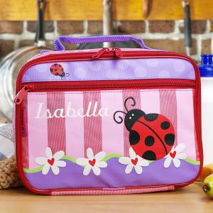 Embroidered Ladybug Lunch Box