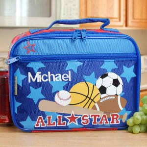 Embroidered Sports Lunch Box