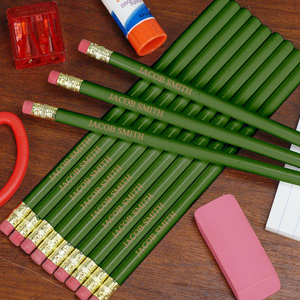 Engraved Green School Pencils L451913GN