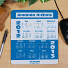 School Year 2012-2013 Calendar Personalized Mouse Pad