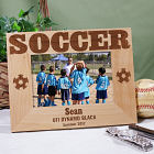 Soccer Wood Picture Frame