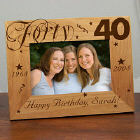 Happy Birthday Picture Frame - 40th