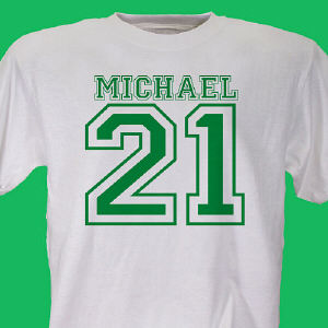 Sports Personalized 21st Birthday T-Shirt