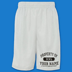Personalized Property of Athletic Mesh Shorts