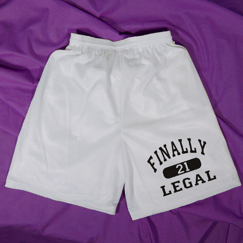 Finally Legal Personalized 21st Birthday Mesh Boxer Shorts