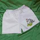 Golf Balls Men's White Personalized Boxer Shorts