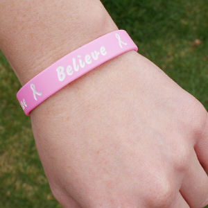 Pink Breast Cancer Awareness Silicone Bracelet