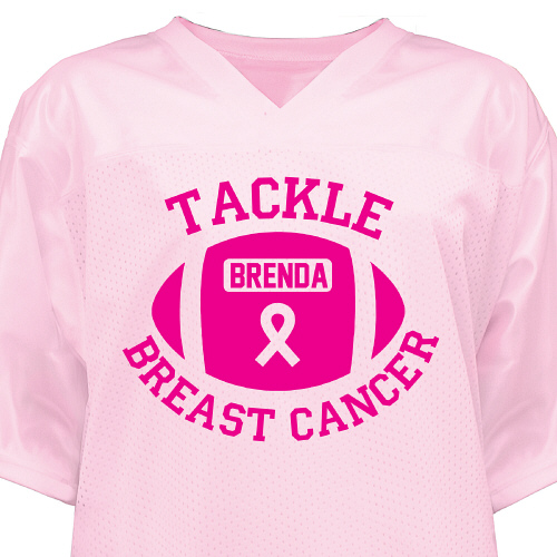 Breast Cancer Football Jersey | Personalized T-shirts