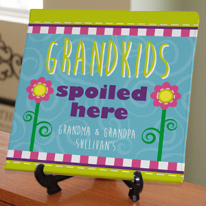Personalized Grandparents Wall Canvas - Spoiled Here