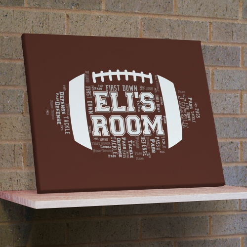 Football Word-Art Canvas | Fathers Day Gifts