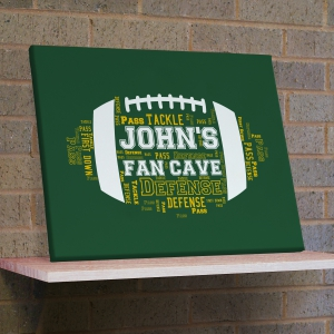 Football Word-Art Canvas