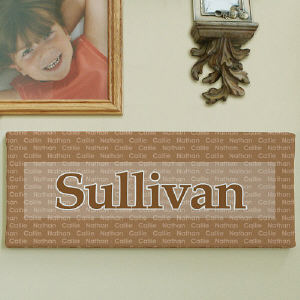 Family Name Wall Canvas